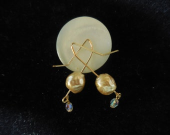 14K Gold Filled Wire Earrings, Sassy and Fun to Wear