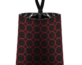 Car Trash Bag // Auto Trash Bag // Car Accessories // Car Litter Bag // Car Garbage Bag - Rings (red and black) // Car Organizer