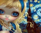 Alice in the Starry Night art print by Jasmine Becket-Griffith BIG 8x16 wonderland vincent van gogh impressionism impressionist