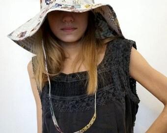 Vintage 1959 Hermes Hat RARE Hugo Grygkar Mineraux Silk 1950s Sun Hats Visors Haute Couture Luxury Womens Accessories Vintage Hats