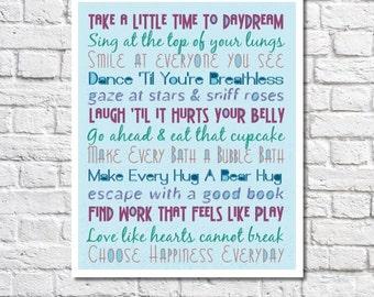 Inspirational Quote Print Inspirational Art Graduation Gift Inspirational Poster Motivational Wall Decor To Do List Art Positive Attitude