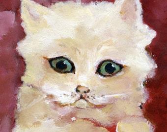 "Rose Cat 5"" x 7"" Print"