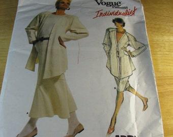 Vogue UNCUT size 8 Pattern Individualist  #1820