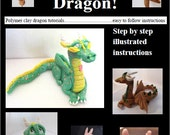Make Your Own Dragon! polymer clay tutorial PDF e-book,salt dough,fondant,Premo,Fimo,Super Sculpey,sculptures,instructions,photos