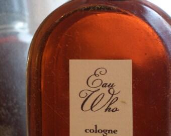 Eau Who Natural Cologne in a Vintage Bottle, a Botanical Fragrance