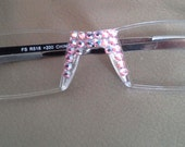 Light Rose Ab Crystal Reading Glasses ONLY using Swarovski Crystal Elements