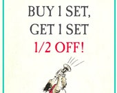 BOGO Summer Special - Buy 1 Set Get 1 Set 1/2 Off - *Must Purchase This Listing for Special* - Vintage Personalized Bookplates