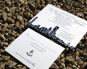 Boston Skyline Wedding Invitation Deposit
