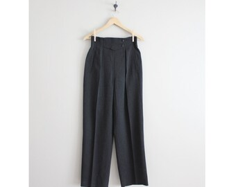 escada trousers / high waisted pants / wool trousers