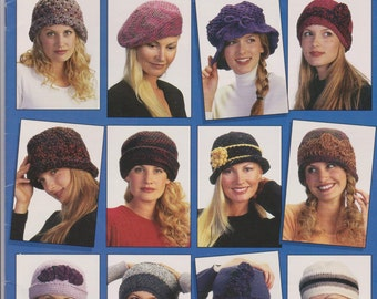 Crochet a dozen hats by Nancy Brown, by American school of needlework.