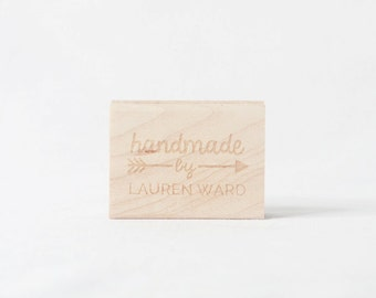 Handmade By Arrow Rubber Stamp for Makers and Crafters