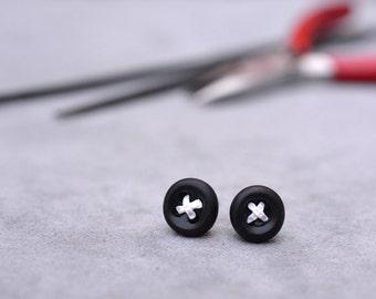 Mens Earrings - Button Earrings - Pick Your Colour