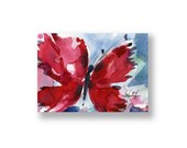 Butterfly Joy No. 6... Original abstract watercolor aceo art ooak painting by Kathy Morton Stanion  EBSQ