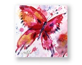 Butterfly Joy No. 8 ... Original abstract watercolor aceo art ooak painting by Kathy Morton Stanion  EBSQ
