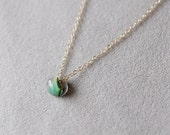 kerry in lagoon - glass bead necklace by elephantine