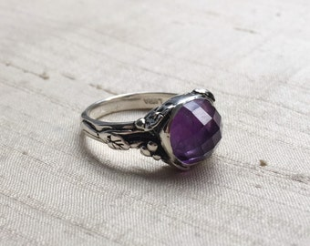 Amethyst And Sterling Woodland Vine Ring