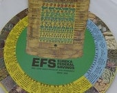 Garden Vegetable Guide Vintage Graphics Wheel Advertising Eureka Fed Savings