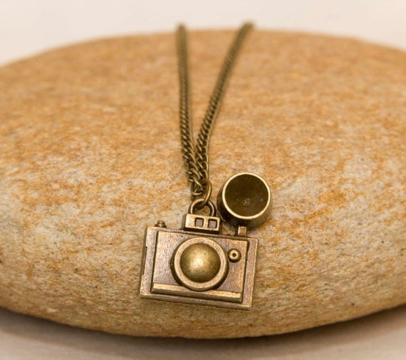 Camera Charm Necklace Gift For Photographer Photography