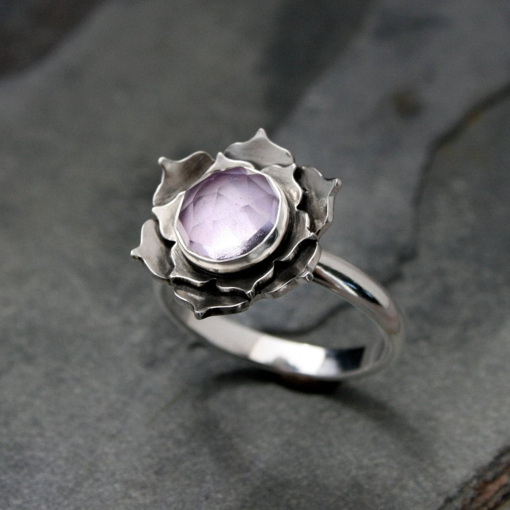 Silver Rose Statement Ring
