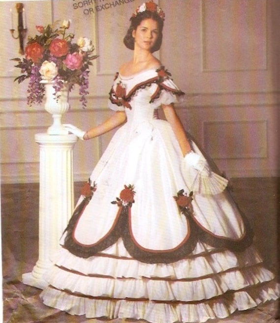 Southern Belle Wedding Ball Gown Fashion Historian Dress