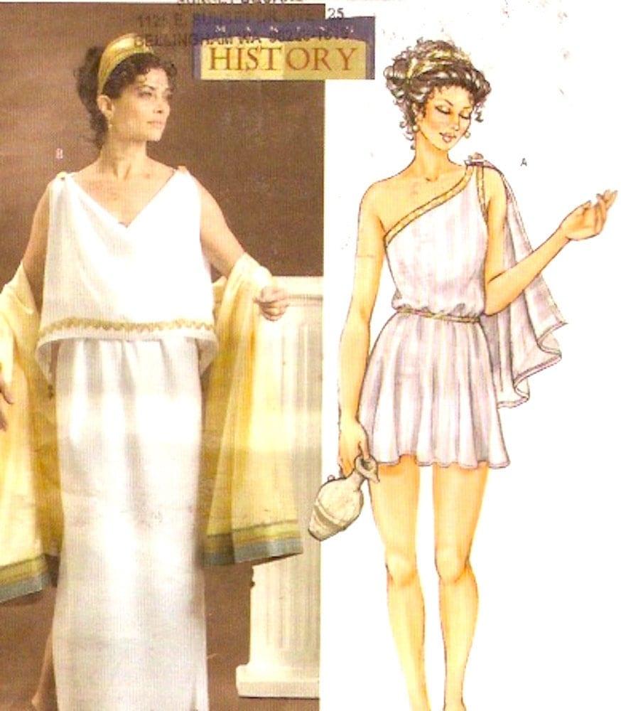 Renaissance Wedding Dress Costume History Mccall S By Heychica: Grecian Goddess Dress Sewing Pattern Ancient Greece Helen Of