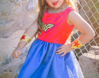 Cute Wonder Woman Costume Dress