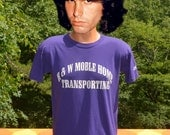 vintage 90s t-shirt colorado ROCKIES baseball mobile home wtf uniform purple tee Medium Small