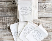 Thank You For Joining Us, Stamped Muslin 3x5 Bags 100 quantity