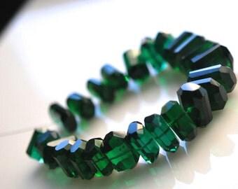Gorgeous green colored hydro quartz  nuggets