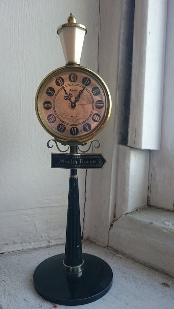 Vintage French Moulin Rouge Miniature Street Lamp Novelty