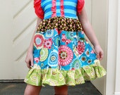 ALL SIZES Blue Butterfly dress. SALE Pink Momi boutique
