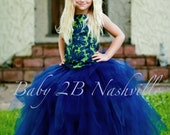 Navy Dress Apple Green Dr...
