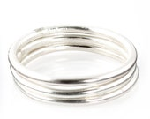 Sterling Silver Stacking Rings -  Plain Sterling Silver Stacking Rings - Silver Stacking Ring