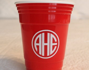 Monogrammed Red Solo Cup