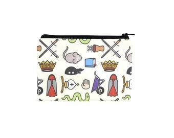 CHOOSE SIZE Princess Bride Zipper Pouch / As You Wish Makeup Bag or Camera Bag