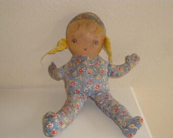 Dutch Girl Rag Doll// Vintage 1946//Baby Toy