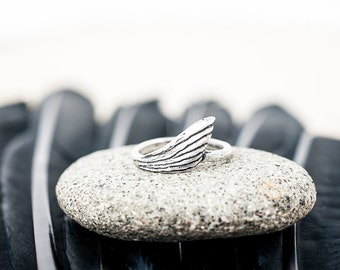 Silver Freedom Ring | Wing Ring | Nature Inspired Jewelry | Silver Statement Ring