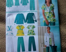 Simplicity 3542 Women's Scrub Pants, Top and Jacket  Sewing Pattern