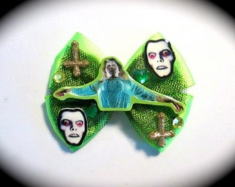 Exorcist Possessed Regan MacNeil Hair Bow Clip