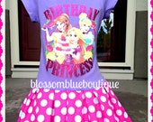 Princess Birthday dress Belle Cinderella and Rapunzel Tangled 5/6  ready to ship