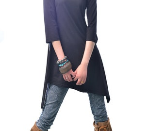 Idea2lifestyle - Moroccan breeze - zen asymmetrical cotton tunic dress (Q1506S)