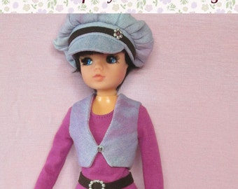 "OOAK outfit for Pedigree Sindy.  ""Retro denim"" set. Fits basic body and Active (ballerina) body."