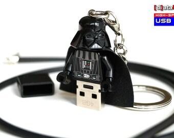 USB Stick in original Lego® Minigure + Necklace + Keychain All In One 4GB/8GB