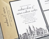 Madison New York Skyline Wedding Invitation Sample - Boston, Chicago, Dallas, Los Angeles, New York, San Francisco