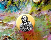 Buddha button pin
