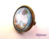 Cupcake ring - Cupcake cake ring - Cupcake brown ring - Cupcake ring - Cupcake jewelry r805