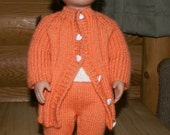 "Clearance!  18"" Doll Wardrobe including Long Coat, Short Sleeve Cardigan, Sleeveless Top, Leggings & Beanie"