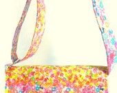 Coupon Organizer Holder Mega Large Watercolor Floral Fabric