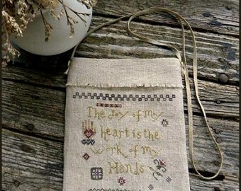 Primitive Cross Stitch Pattern - Joy of My Heart