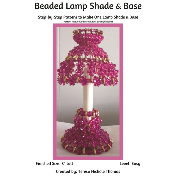 l shade and base safety pin and beading pattern tutorial